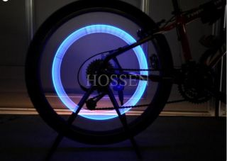 Car Valve Caps Safety Light Hot Wheels Tyre Wheel Neon LED Lamp Blue