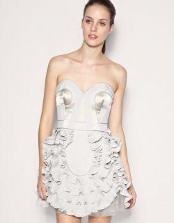 Karen Millen New Ruffle Corset Prom Dress Size 14