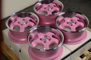 Offset Wheels 25 Civic Integra CRX Cobalt XB XA MR2 4 Lug Rims
