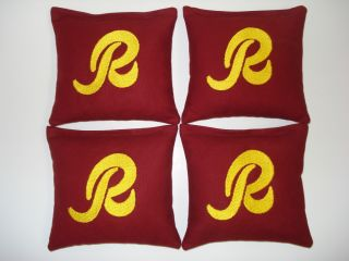Washington Redskins Custom Embroidered Cornhole Bags Corn Hole Bean