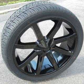24 KMC Slide Wheels Nexen Roadian HP Tires Silverado Tahoe GMC Yukon