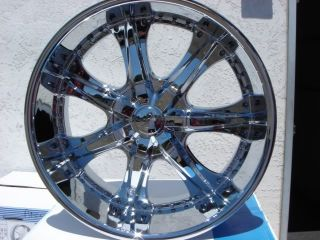 22 U2 35 Chrome Rims Wheels Yukon Escalade Sierra GMC