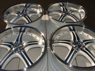 18 New White Wheels Rims 4x100 4x114 3 Dodge Neon Honda Civic Mazda