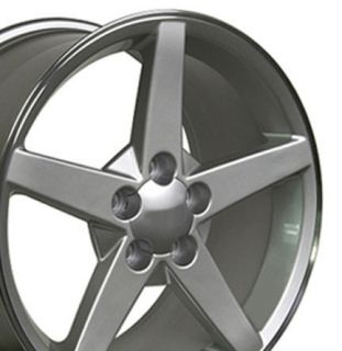 18x10 5 Set of 2 Silver Corvette C6 Rear Wheels Rims Fit Camaro SS