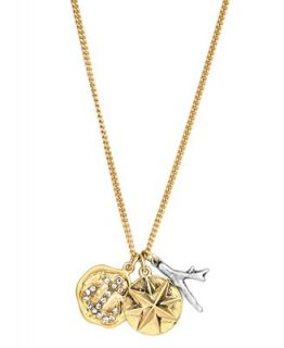 RACHEL Rachel Roy Necklace, Gold tone Charm Pendant