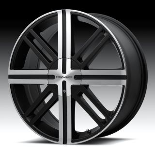 20 inch KMC Black Wheels Rims 5x100 TT PT Cruiser Outback Camry Baja
