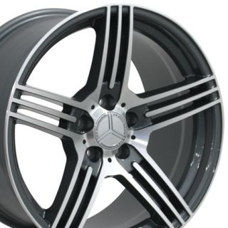 18 8 5 9 5 Gunmetal AMG Wheels Set of 4 Rims Fit Mercedes C E s Class