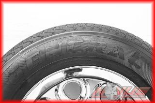 CHEVY SILVERADO TAHOE GMC SIERRA CHROME STEEL OEM WHEELS & TIRES 18 16