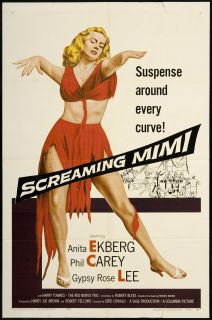 Screaming Mimi 1958 Original U s One Sheet Movie Poster