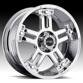 Phantom Chrome V Tec Warlord Wheels Rims 8 Lug Ford F250 F350