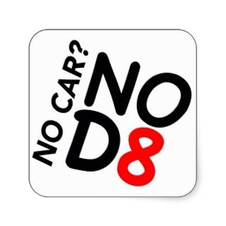 No CarNOD8 Square Stickers