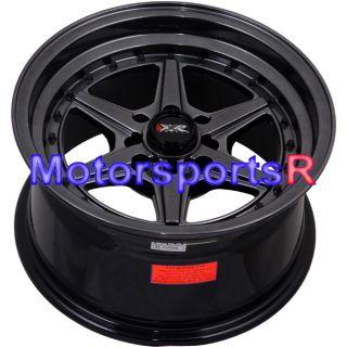 15 15x8 XXR 501 Chromium Black Rims Wheels Deep Dish 95 98 Honda Civic
