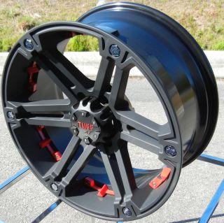 20 Black Tuff A T T01 Wheels Rim Chevy Silverado GMC Sierra Tacoma