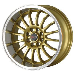Drag Wheels Dr 41 15x7 4x100 ET10 Gold Rims Hellaflushed Integra XB