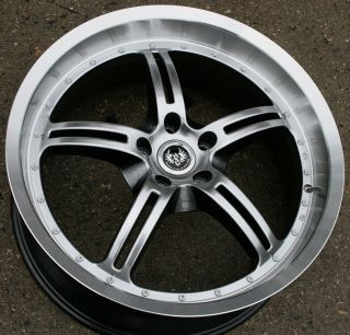 Stern Jock Face ST5 20 H Black Rims Wheels VW EOS Tiguan CC 20 x 8 5