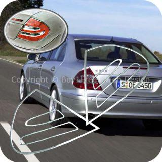 Benz W211 E Class Chrome Tail Light Trim Rear Lamp Rim Cover AUTO EHS