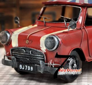 Classic UK Union Jack Red Collectibles Mini Cooper Toy Car