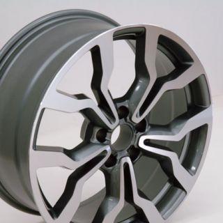 18 Machined Gunmetal R8 Style Replica Wheel Fits Audi A4 A6 A8
