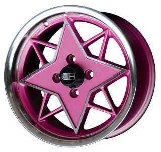 15 HD Tuning RSB Wheels Pink Rims Fits Honda Civic Aveo Fit Cobalt