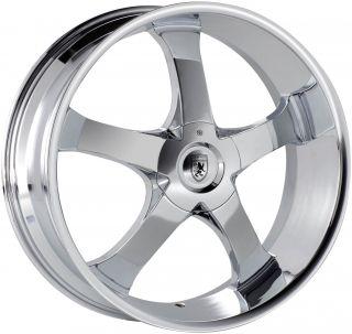 24 24x9 5 5x115 5x120 Chrome Von Max VM4 Wheels Rims