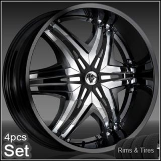 28 Diablo Wheels and Tires Pkg Forfor Chevy Ford Dodge RAM Rim Tahoe