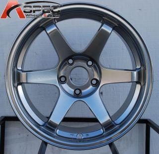 18 Varrstoen ES221 5x100 Hyper Black Wheel Fit Subaru Legacy Outback