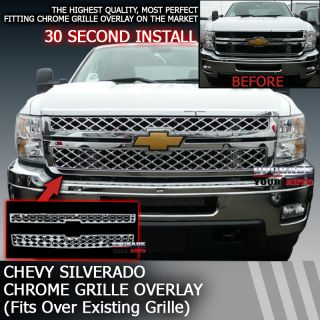 Perfectly Fits 2011 2012 Chevy Silverado Factory Style Grille Overlay