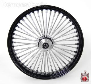 21 18 Wheels Fat Mammoth Black 48 Spokes for Harley Dresser FLH