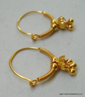 Traditional Design 18K Gold Hoop Earrings BellyDance
