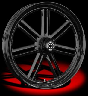 Colorado Custom Wheel Black Front Sunset 21 x 3 5 Harley 00 12 FLHR