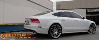 22 Ace Mesh 7 Wheels Silver Audi A7 S7 Mesh 7 Staggered Set 20 21