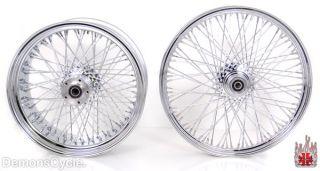 21 18x8 5 Chrome Rims Wheels 80 Spokes 250 Wide Tire Set Fits Custom