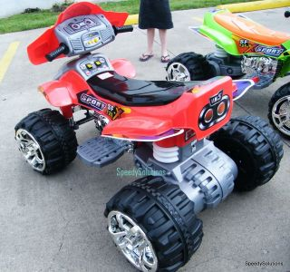 ATV Ride on Power Double Motor 2 Battery Wheels 4 Wheeler 12V