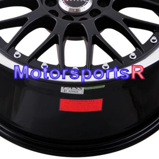 18 XXR 521 Black Machine Lip Rims Staggered Wheels 03 06 07 Infiniti