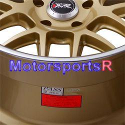 18 XXR 526 Gold Deep Lip Rims Staggered Wheels 98 99 00 04 Ford