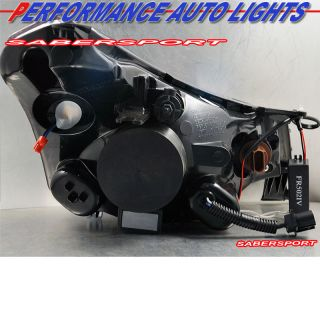 2008 2011 FORD FOCUS CCFL HALO PROJECTOR BLACK HEADLIGHTS w/ LED