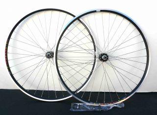 27 x 1 1 4 Front Rear 6 7 SPD Bike Wheelset Rim w Q R Black