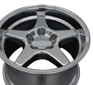 17 9 5 11 Polished Corvette ZR1 Style Style Wheels Rims Fit Camaro