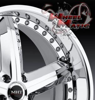 20 MHT Montage Staggered Wheels 5x114 3 Rims Lexus GS