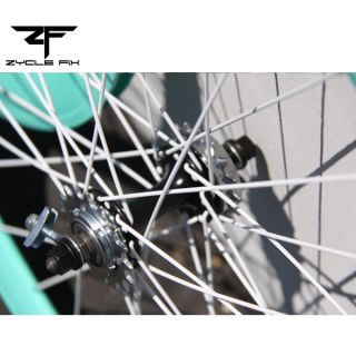 Light Blue Fixed Gear Fixie Bike Bicycle 50mm Deep V Wheelset Wheel