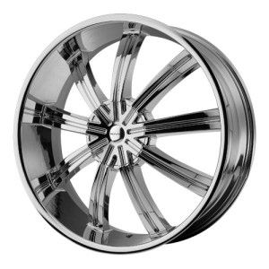 22 inch Chrome KMC Wheels Rims 6x5 5 6x139 7 Pathfinder Titan Xterra