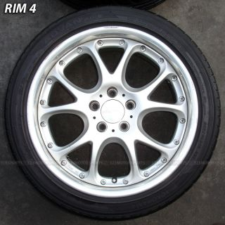 18 INCH USED SSR RIMS WHEELS & TIRE MERCEDES BENZ E500 E550 S500 S550