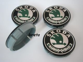 Center Caps Set 4pcs 60mm Alloy Rims Fabia Octavia Superb New