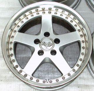 Work Equip 17 10J 8 Alloy Rims Wheels Supra GTR R32 r33 RX7 Lancer EVO