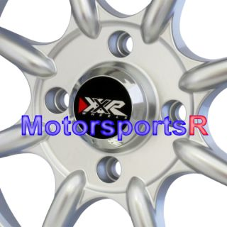 16 16x8 XXR 002 Hyper Silver Wheels Rims Stance 89 90 91 92 93 Nissan