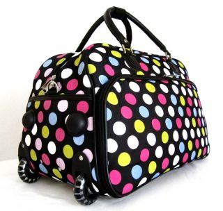 20Duffel Tote Bag Rolling Luggage Case Wheel Purse Multi Color Pink