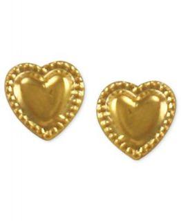 Childrens 14k Gold Earrings, Heart Hoop   Earrings   Jewelry