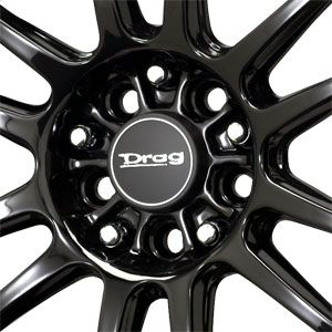New 17x9 5x100 5x114 3 Drag Dr 38 Black Wheels Rims