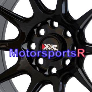 15 x 8 25 XXR 527 Black Wheels Rims Concave Stance 4 Lugs Nissan 240sx