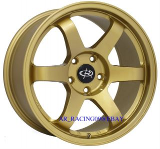 17 Rota Wheels 17x9 Grid Gold 5x100 42 WRX 04 STI TC